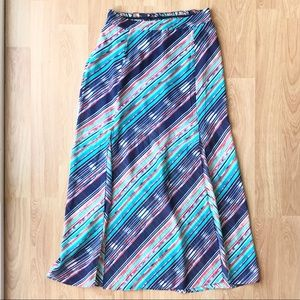 Maurice's Maxi Skirt Blue Stripe Medium